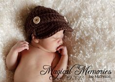 The Oliver Newsboy Cap in Chocolate Brown  by mamamegsyarnshoppe, $16.00