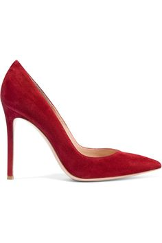 Kate's Gianvito Rossi claret Suede Pumps are 50% off at Net-a-Porter. (As of Nov 21 2016)
