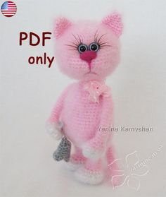 Missi the Cat crochet toy amigurumi PDF pattern