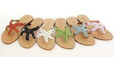Starfish sandals. A pair in every colour would be perfect.