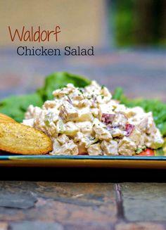 Waldorf Chicken Salad | Carrie's Experimental Kitchen #chicken #salad