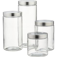 glass storage containers with stainless steel lids - Google Search