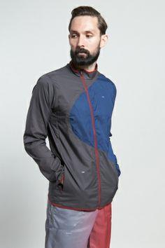 Shop for Nike Sportswear Outerwear for Men | x UNDERCOVER Gyakusou Lightweight Jacket in NIGHT STADIUM/BRAVE BLUE | Incu