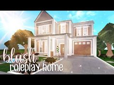Bloxburg: Blush Roleplay Home Two Story House Design, Tiny House Layout, House Layout Plans, Unique House Design, Craftsman House Plans, House Layouts, Modern House Floor Plans, Simple House Plans, Luxury House Plans