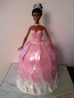 black Barbie cakes