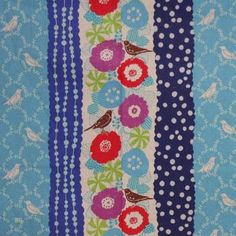 Latest Designer Fabric 'Bluebirds' by Echino (JPN). Roman blinds and curtains make to order online.
