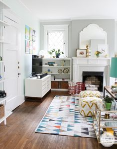 Living Room // Summer Home Tour 2014 at Inspired by Charm