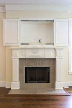 Superior Fireplace With Open Cabinet For Flatscreen Tv. Can Be Paired With Other  Photo In This