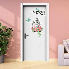 Painted Bedroom Doors, Art Room Doors, Painted Doors, Door Murals, Mural Wall Art, Diy Dorm Decor, Wall Painting Decor, Wallpaper Stickers, Wall Drawing