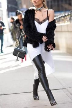 How to be a fashion week Street Style Star... dress for the weather you wish for, not the actual temperature outside.