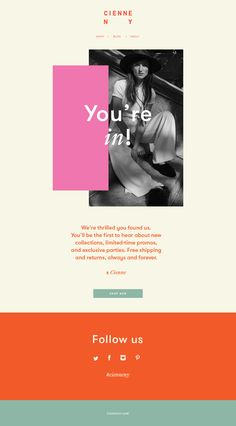 Cienne NY Newsletter #digital #webdesign #graphicdesign