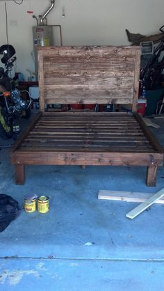 Rustic Headboard Queen by PerpetualLumber on Etsy, $224.00