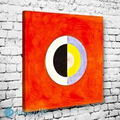 Orange Disc Tablo #geometrik_tablolar #geometrik_kanvas_tablolar