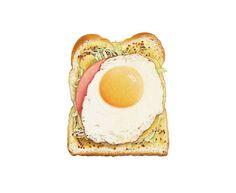 Toast w/ toppings ~ Yumi Uchida