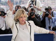 L'actrice française Jeanne Noreau au Festival de Cannes lors de la présentation du film de François Ozon 'Le temps qui reste', le 16 mai 2015 / AFP