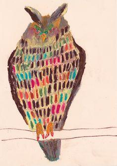 Owl Illustration, Illustrations, Flight Patterns, Owl Artwork, Easy Art Projects, Rare Birds, Learn Art, Sketchbook Inspiration, Naive Art