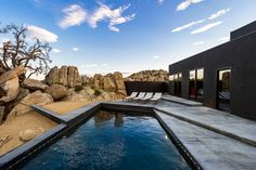Located across from the Joshua Tree National Park in California, USA, the Black Desert House was a joint project between creative director Marc Atlan as the designer and Oller...