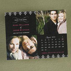Photo Calendar Save the Date Postcard