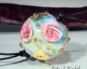Series II rose ball beads by Astrid Riedel