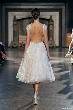 Short gown and low back. Inbal Dror Fall 2015.