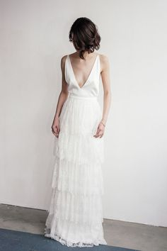 The Bridal Fashion Week for 2019 has come and gone, and it did not disappoint. Classic Wedding Dress, Perfect Wedding Dress, Bridal Dresses, Wedding Gowns, Boho Vintage, Bridal Fashion Week, Bridal Style, Wedding Styles, Wedding Ideas