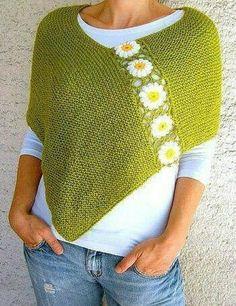 Интересная идея для любителей вязания. Вяжется легко...прямоугольник платочной вязкой, длину и ширину по своим объемам...отдельно вяжете мотивы крючком, на свой выбор, и соединяете. …