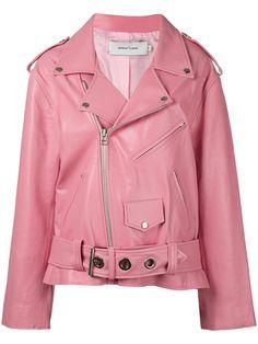 ¡Cómpralo ya!. Marques'almeida - Oversize Biker Jacket - Women - Calf Leather/Viscose - XS. Pink calf leather oversize biker jacket from Marques Almeida. Size: XS. Color: Pink/purple. Gender: Female. Material: Calf Leather/Viscose. , chaquetadecuero, polipiel, biker, ante, antelina, chupa, decuero, leather, suede, suedette, fauxleather, chaquetadecuero, lederjacke, chaquetadecuero, vesteencuir, giaccaincuio, piel. Chaqueta de cuero  de mujer color rosa,púrpura de MARQUES'ALMEIDA.