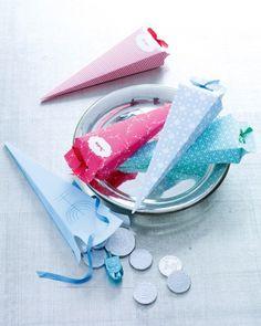 Clip-Art Holiday Paper Cone Favors - DIY & several downloadable clipart designs