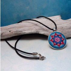 Boho Schmuck  Mandala Amulett Mandala Schmuck von KIMAMAdesign