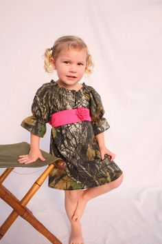 Camo dress Baby girl Camo Wedding Flower girl dress by haddygrace, $52.00