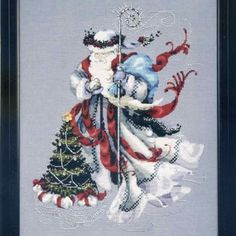 Winter White Santa Cross Stitch Pattern Mirabilia Designs http://www.amazon.com/dp/B003700AC8/ref=cm_sw_r_pi_dp_b5uuub015E92W