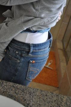 Jeans too loose around the waist?  Easy DIY Fix!   Brilliant! {I Am Momma - Hear Me Roar Blog}