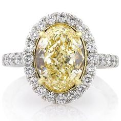 Yellow diamonds! I'm in love with this ring!