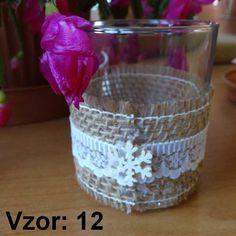 Sklenený svietnik Jarko - Sviečka - Bez sviečky, Vzor - Vzor 12