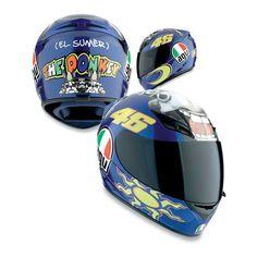 The Donkey Agv K3 Valentino Rossi Full Face Helmet
