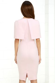 3e58d958ef1a4 The Elliatt Elevate Light Pink Midi Dress is rising up high in the fashion  ranks thanks