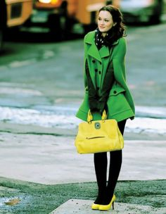 It disturbs me how much I like this outfit supposedly warn by Blaire Waldorf.  The coat, the shoes, the bright heels. Delish.