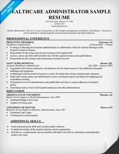 healthcare administrator cv template health care