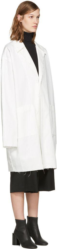 White Work Coat | White white and Cotton