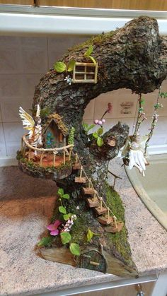 Decoration fairy tree house