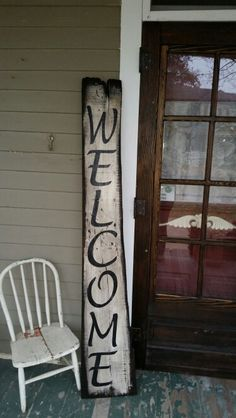 Welcome sign old barn wood feedpuzzle for Barnwood sign ideas