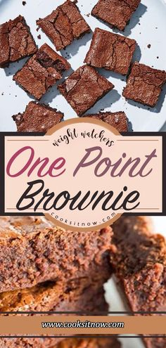 One Point Brownie, Weight Watchers Smart Points Friendly. Weight Watchers Brownies, Weight Watcher Desserts, Weight Watchers Snacks, Weight Watcher Cookies, Weight Watchers Vegetarian, Weight Watchers Breakfast, Weight Watcher Dinners, Weight Watchers Smart Points Recipies, Low Fat Desserts