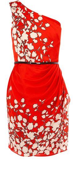 OASIS  Floral One Shoulder Dress