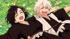 Toushirou Hitsugaya and Momo Hinamori must be vacationing on the island of Laputa. :D