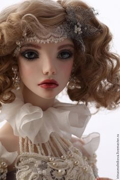 Шарнирная кукла Серебро и Жемчуг. Handmade. Авторская, серебро и жемччуг, фарфор / BJD art doll