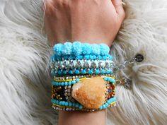 LOVE LOVE LOVE THIS!  #turquoise #bohemian #boho #bracelet   https://www.etsy.com/listing/266245607/druzy-agate-bracelet-turquoise-cuff?ref=shop_home_active_16