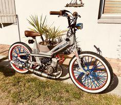 Moped Motorcycle, Moped Scooter, Custom Moped, Custom Bikes, Honda Motorcycles, Cars And Motorcycles, Mini Chopper, 50cc, Mini Bike