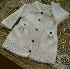 Ideas for knitting baby cardigan english