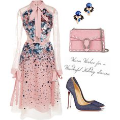 A fashion look from January 2018 featuring Elie Saab dresses, Christian Louboutin pumps and Gucci shoulder bags. Browse and shop related looks.