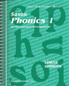 Saxon Phonics 1 Home Study Teacher's Manual by Lorna Simmons Item #: SX1565771753 Retail Price: $50.00 Our Price: $37.50